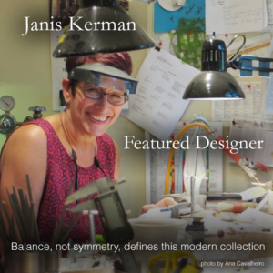 Balance, not symmetry, defines this modern jewelry collection by Janis Kerman