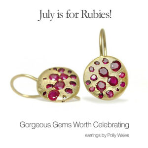 Gorgeous Gems Worth Celebrating: earrings by Polly Wales
